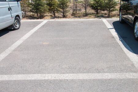 parking spaces: Empty parking spaces