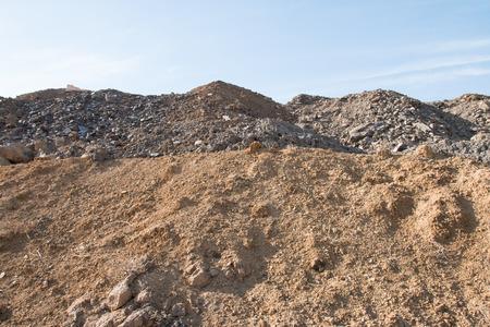 mound: Construction site waste mound Stock Photo