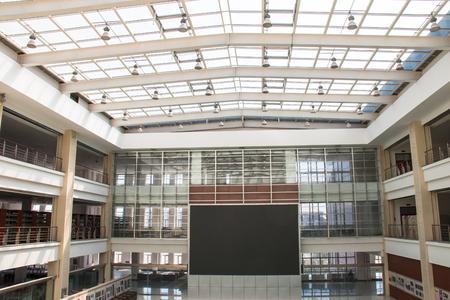 big screen: big screen in a mall Editorial