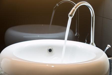 basins: Close Up wash basins and faucets