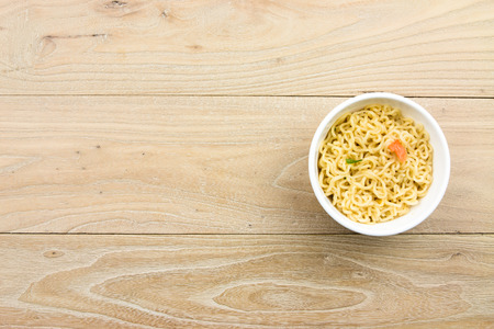 scald: Cooked instant noodles in a bowl
