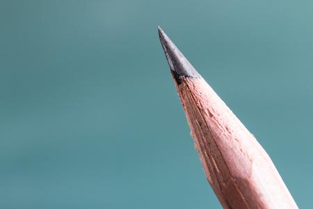 Pencils against the blackboard Stock Photo