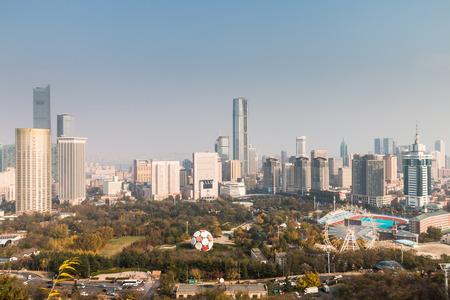 China Dalian city landscape Imagens