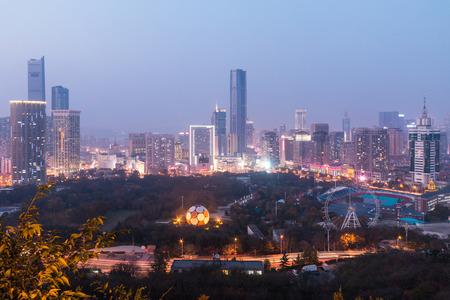 China Dalian city at night