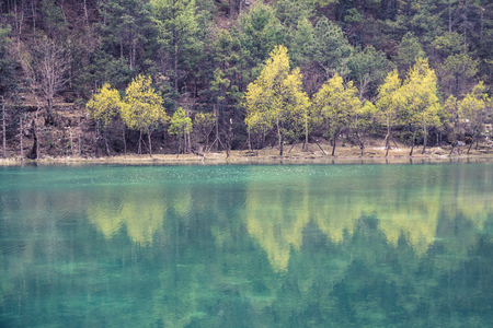 Blue Moon Valley in Lijiang, Yunnan, China Stock Photo