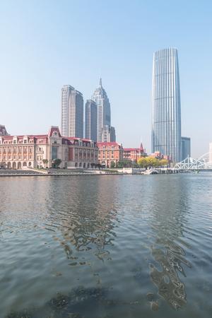 Cityscape of Tianjin, China Stock Photo