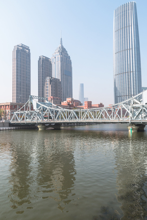 Liberation Bridge in Tianjin, China Stock Photo