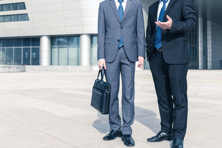 Asian businessman discussing work Stock Photo