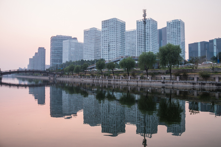 Beijing, China, CBD night landscape Stock Photo