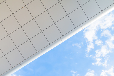 Modern office eaves under the blue sky Stock Photo