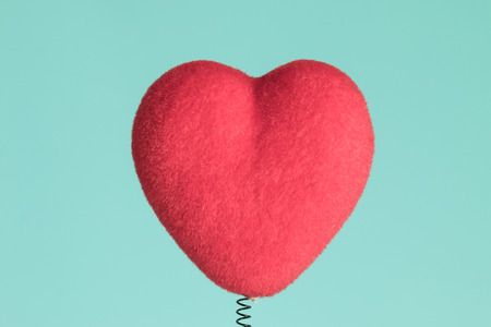 Red heart shaped head card