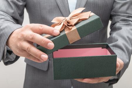 Man gives christmas present
