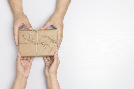 Giving gift concept