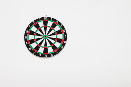 Dart board hanging on the wall