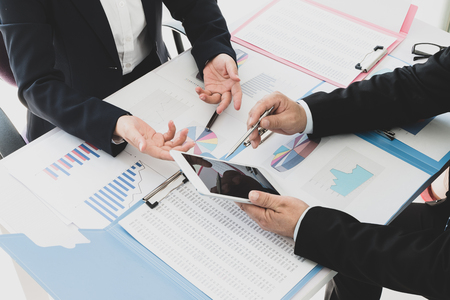 Businessman working in the office Stock Photo - 118477974