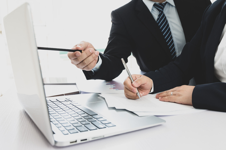 Businessman working in the office Stock Photo - 118478185