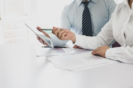 Businessman working in the office Stock Photo - 118478186