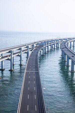 Bridge across the sea in Dalian, China