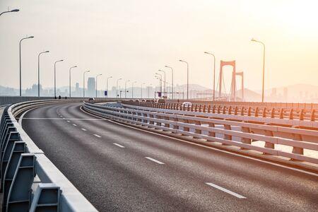 Bridge road in Dalian, China