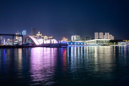 Qingdao city night view of China
