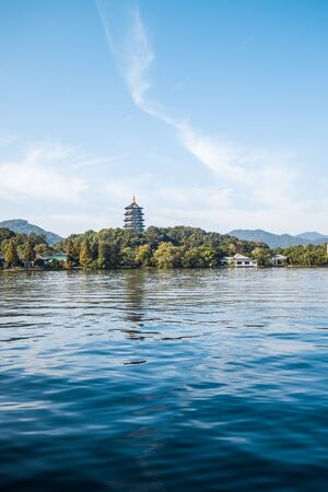 West Lake Landscape, Hangzhou, China Фото со стока