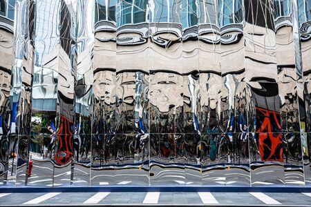 Haha mirror glass on city buildings