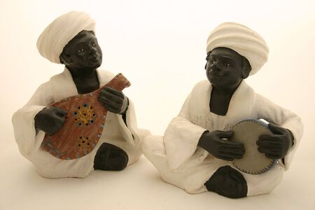 figurative: Clay Figurative Nubian Musicians Stock Photo