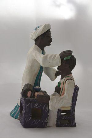 figurative: Nubian Barber Clay Figurative