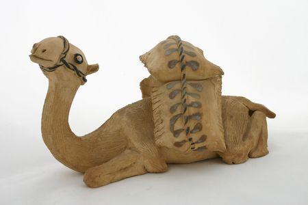 Sitting Camel Clay Figurative Stock Photo - 697244
