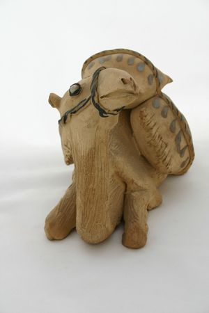 Sitting Camel Clay Figurative Stock Photo - 697241