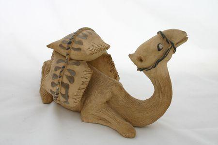 figurative: Sitting Camel Clay Figurative