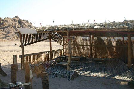 sinai desert: Bedouin Rest in South Sinai Desert Stock Photo