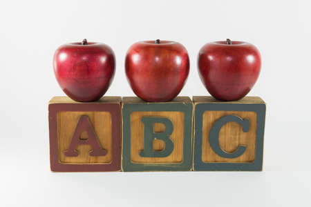abc's: ABCs - And apples for the teacher Stock Photo