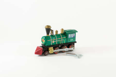 Toy wind-up train