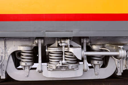 undercarriage: Railroad Car Undercarriage Stock Photo
