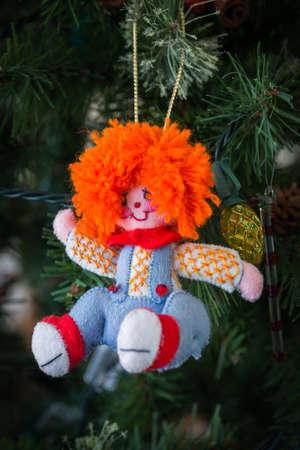 raggedy: Hand made felt Christmas ornament - Raggedy Andy