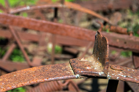agricultural engineering: Fragment of an old farm equipment. Background.