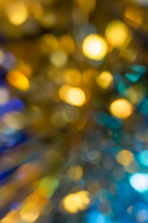 vague: Vague abstraction with yellow, golden spots on a blue background Stock Photo
