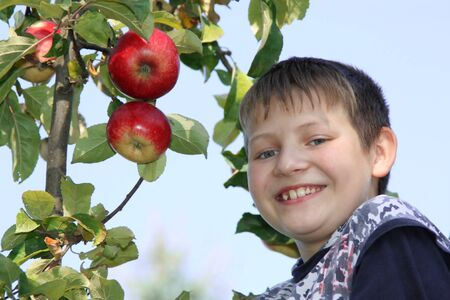 Apple boy photo
