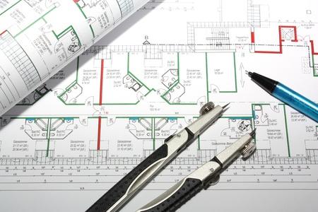 architectural drawing: Architectural Drawing Stock Photo