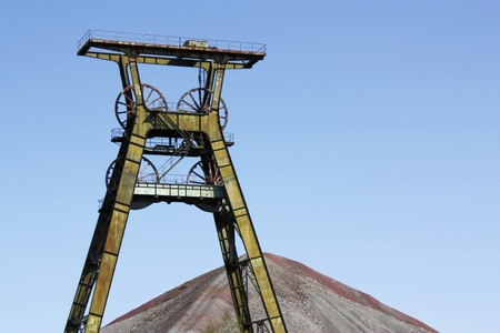 Winding tower of an old copper mine Stock fotó