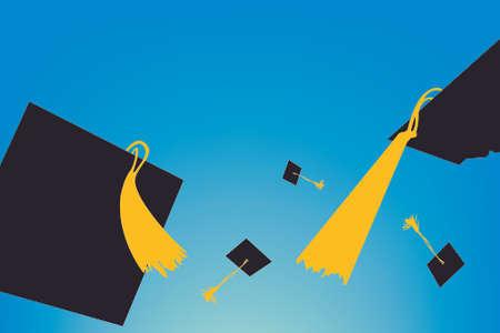 graduating caps Stock Vector - 7552870