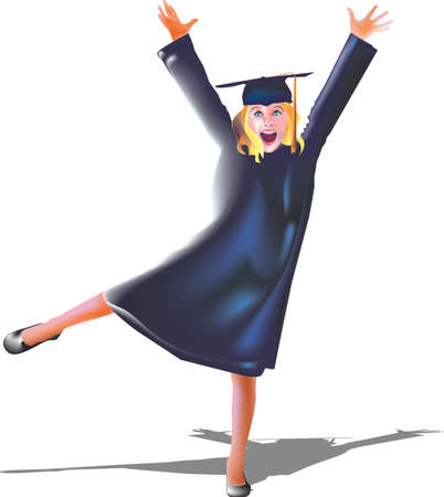 college girl: graduate Illustration