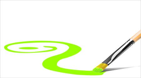 green paintbrush Vector