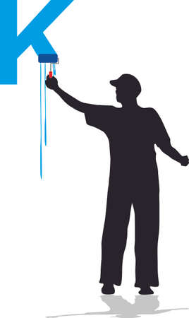house painter K Vector