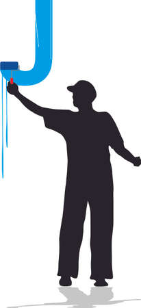painter and decorator: house painter J