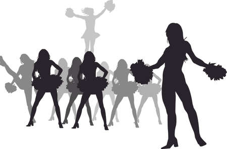 cheer leaders Vector