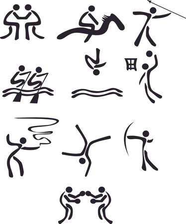 silhouttes: illustration summer games
