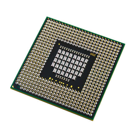 cpu on a white background