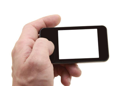 mobile phone with isolated display and black frame Stock Photo - 9076577